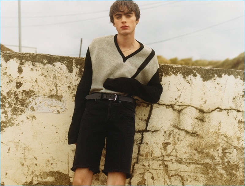 Lennon Gallagher stars in a spring-summer 2018 story for AGOLDE.