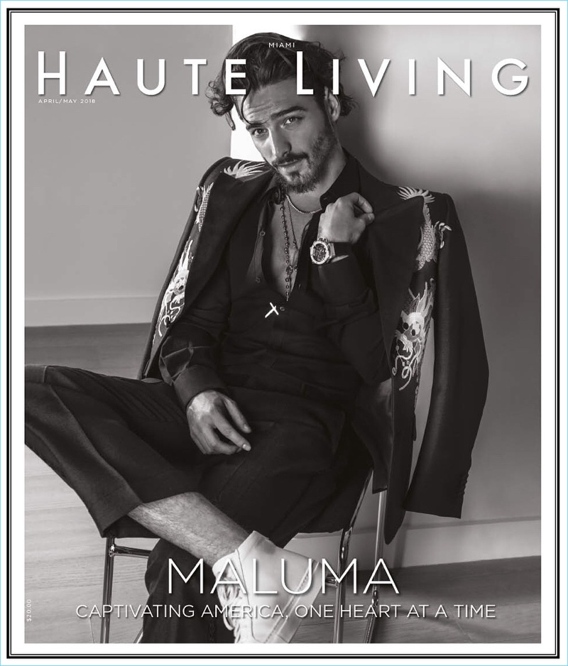 Maluma covers the April/May 2018 issue of Haute Living.