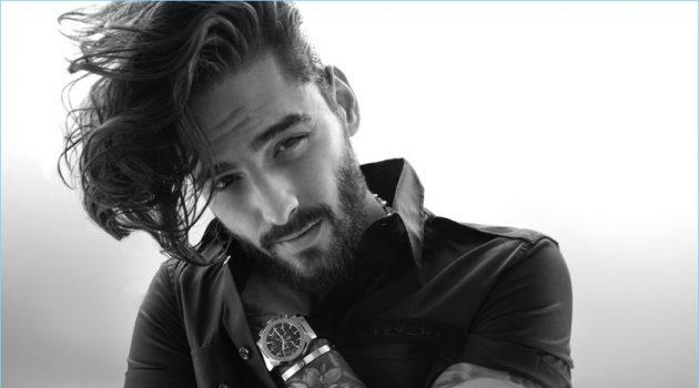 Starring in a new photo shoot, Maluma wears Givenchy.