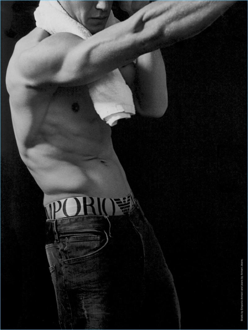 Bertold Zahoran Flaunts His Underwear for Man About Town