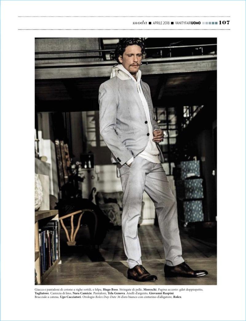 Matteo Martari Returns to the Spotlight, Stars in Vanity Fair Italia Spread