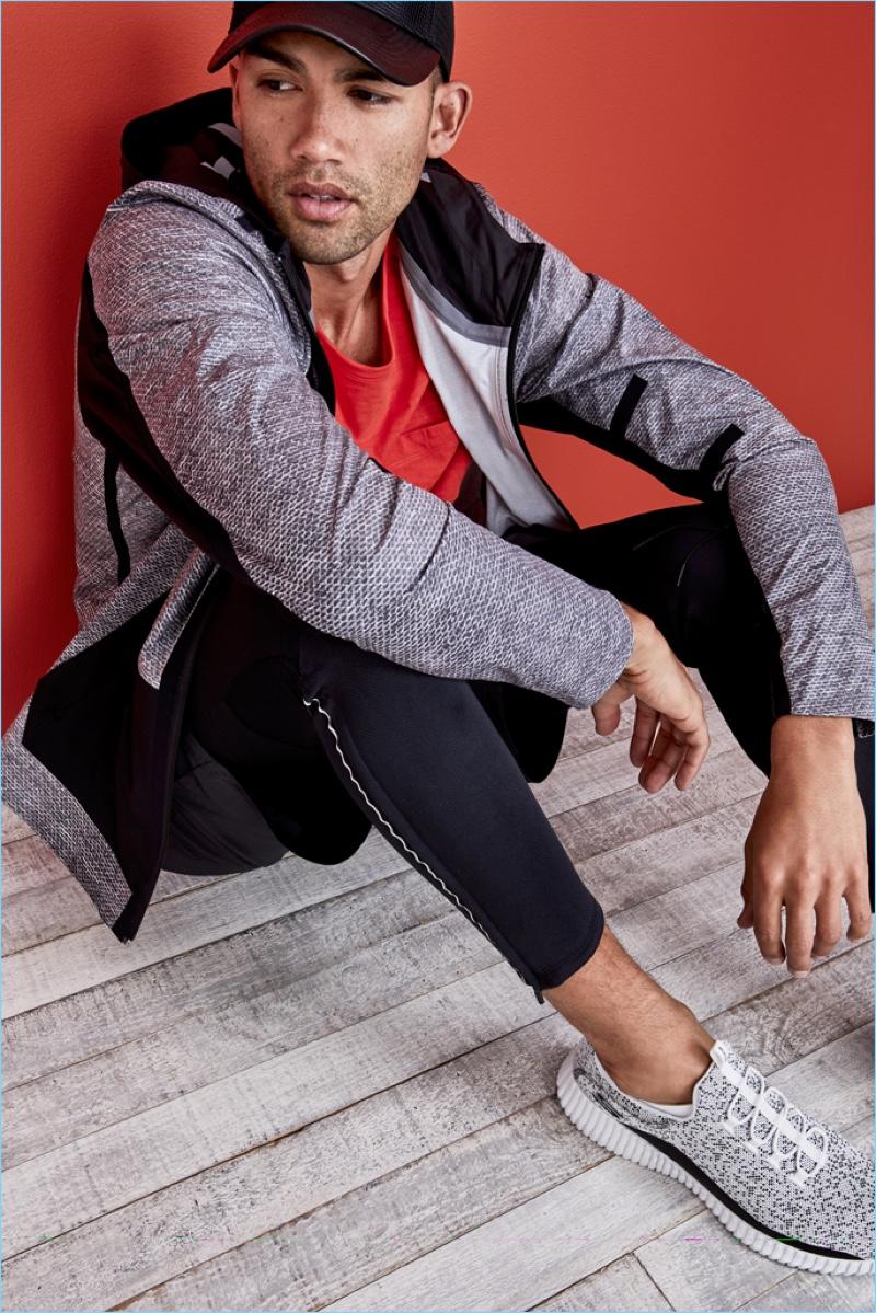 Dave Lilja Goes Sporty in Skechers for Men's Health