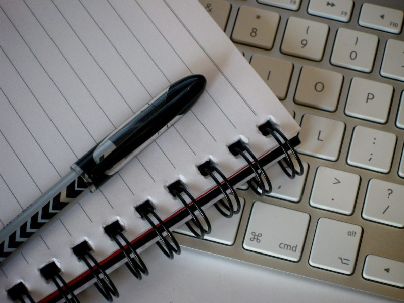 Notebook Pen Keyboard Picture