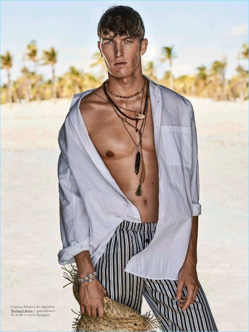 Lonely Beach: Oli Lacey for Spanish GQ