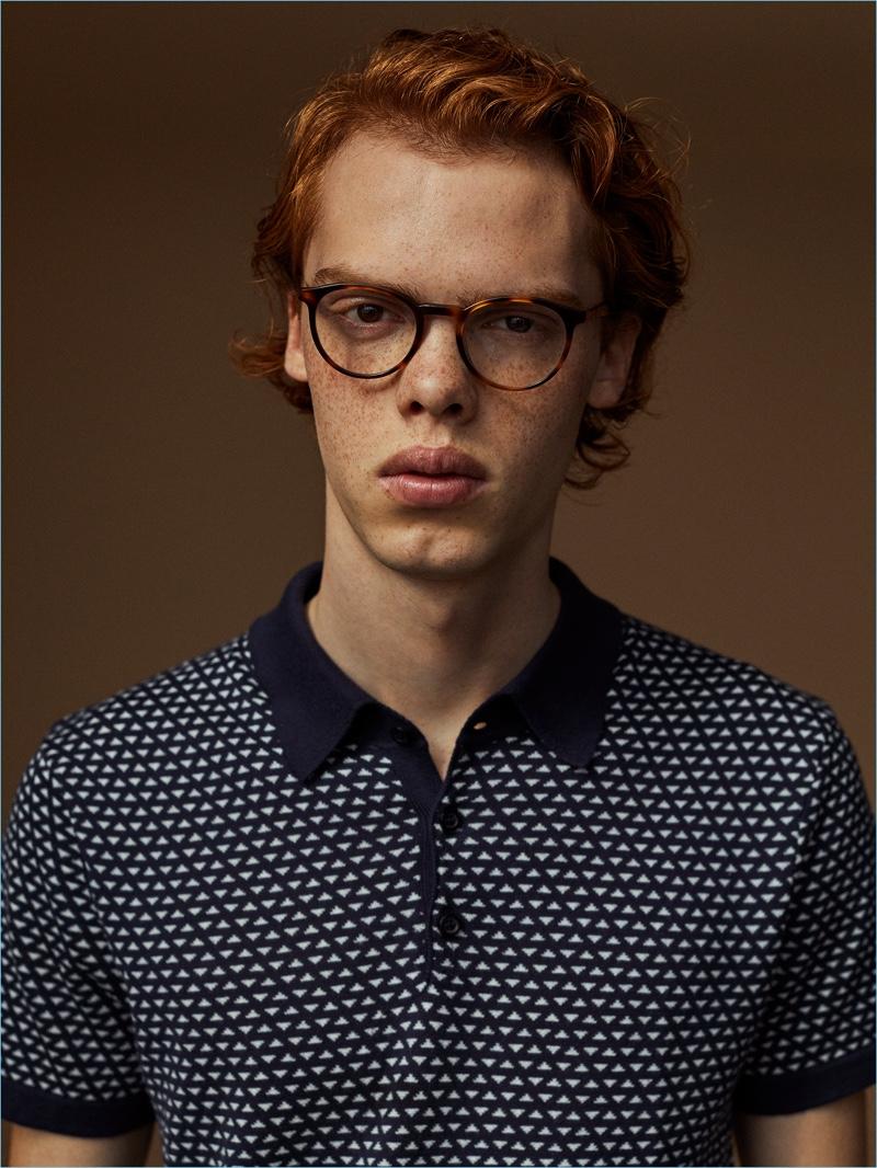 Erik Loebbecke models Ørgreen Optics' Daniel glasses from its Minimal Vintage collection.