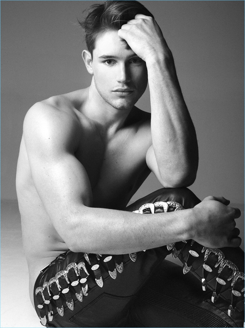 Paddy Mitchell Rocks Dsquared2 for Gay Times