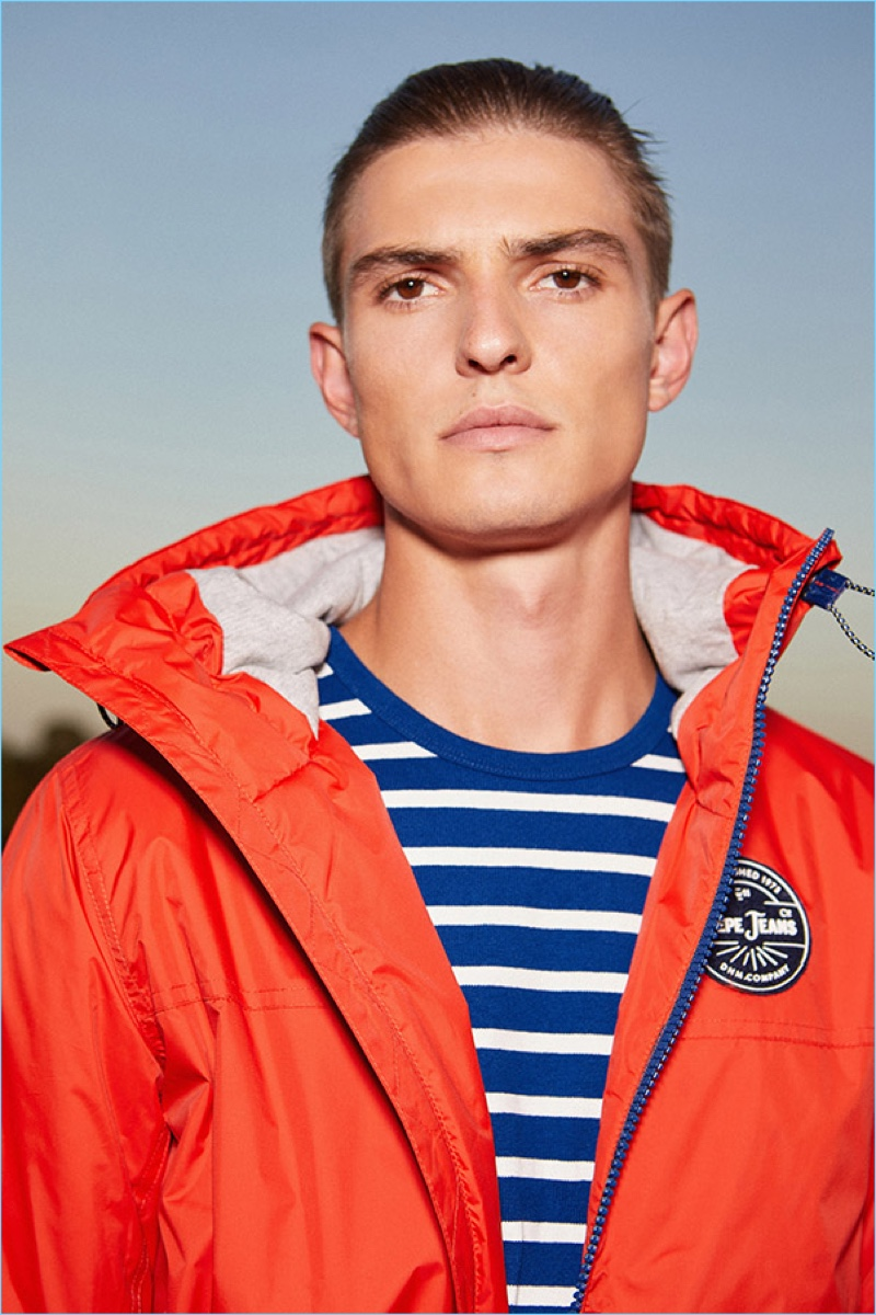 Front and center, Guerrino Santulliana connects with Pepe Jeans for pre-fall 2018.
