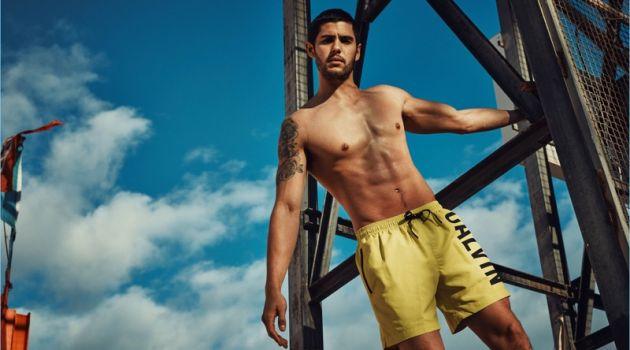 René Grincourt Rocks Calvin Klein Swimwear for Wormland