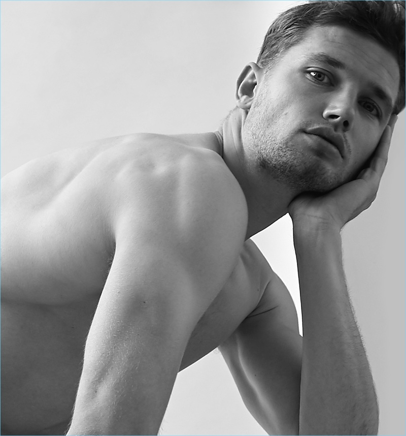 Model Stefan Pollmann delivers his best angles for a portrait.