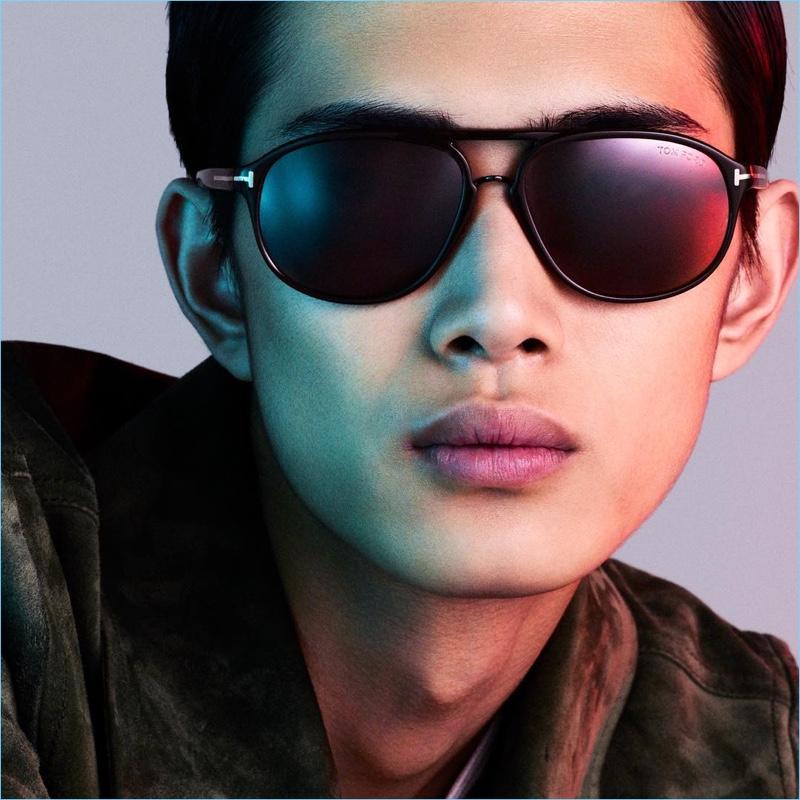 79d0f916ee Li Yufeng stars in a digital eyewear campaign for Tom Ford.