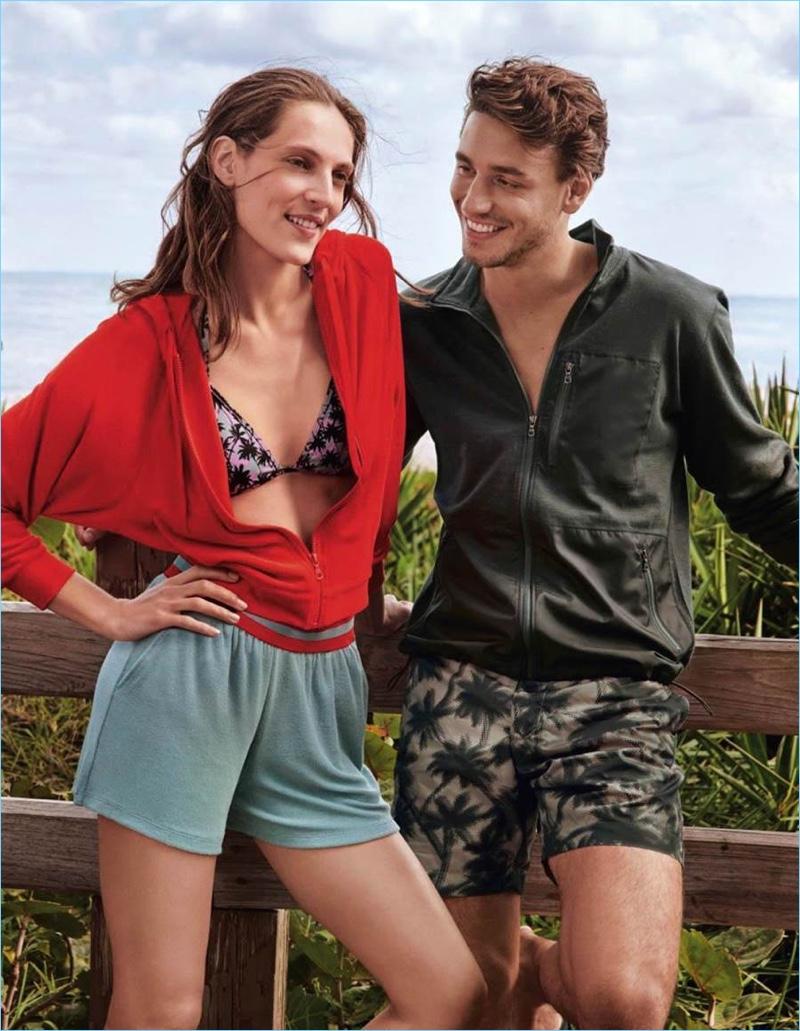 Othilia Simon and Mariano Ontañon smile as the stars of the new Tomas Maier x UNIQLO campaign.