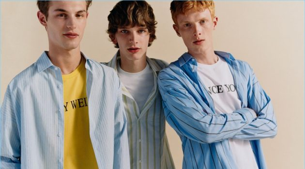 Zara Man enlists Kit Butler, Erik van Gils, and Linus Wordemann to star in an editorial that features its latest fashions.