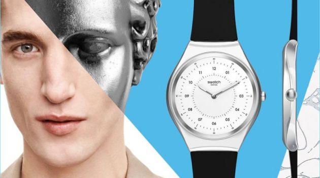 Anatol Modzelewski stars in Swatch's Skin Irony campaign.