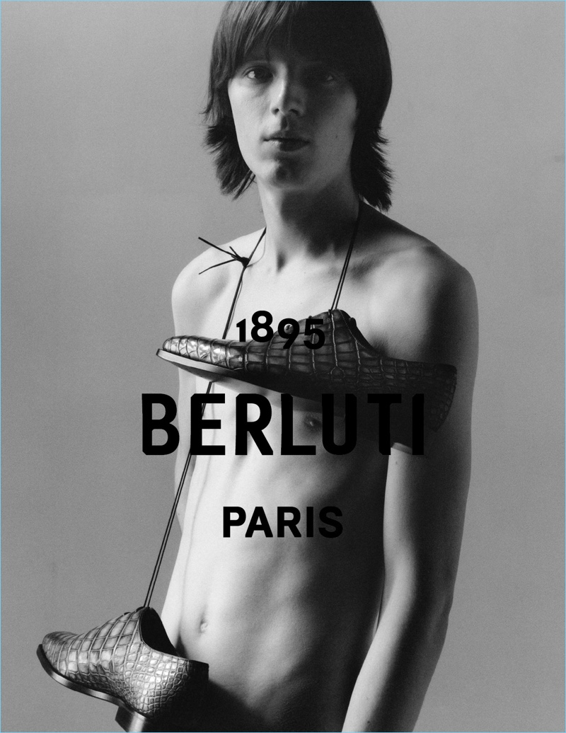 Ewan Murray fronts an advertising campaign for Berluti.