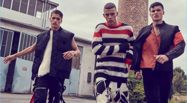 Adrian Chabada, Roman Gazo & Luka Lucic Don Urban Style for Book Moda MAN