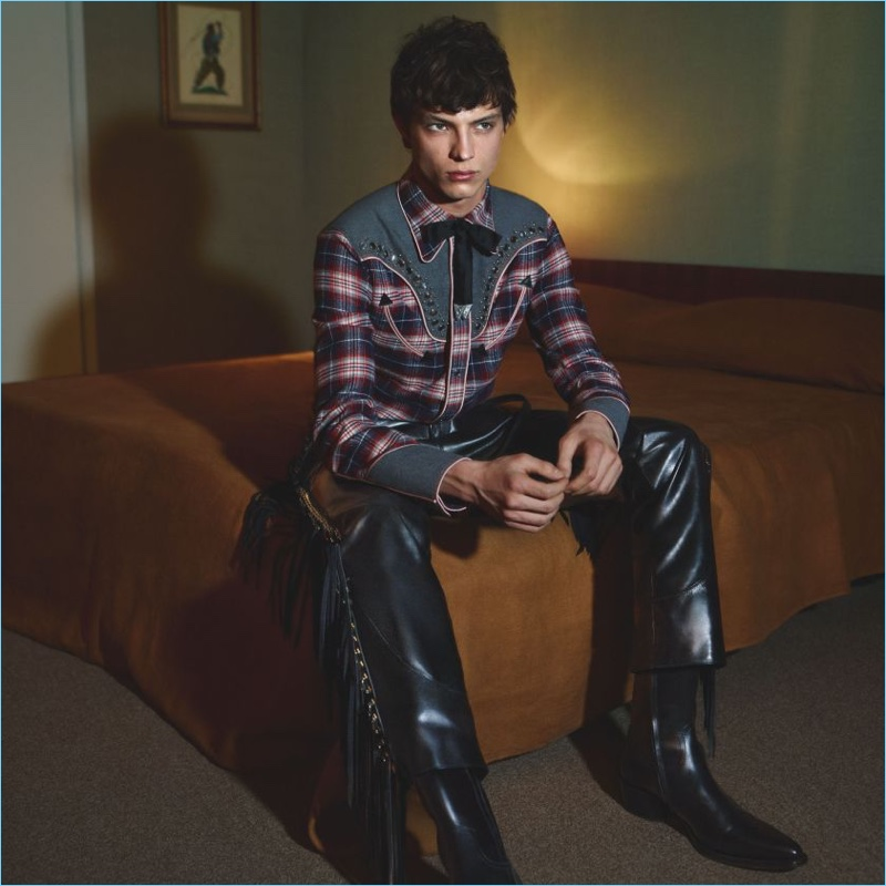 Andrea Quaranta fronts Dsquared2's fall-winter 2018 campaign.