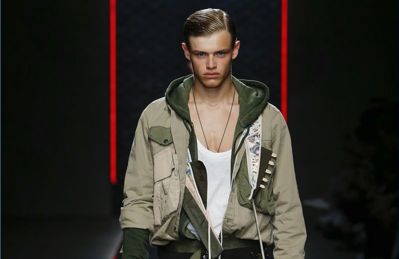 Dsquared2 Does Sporty Military Style for Spring '19 Collection