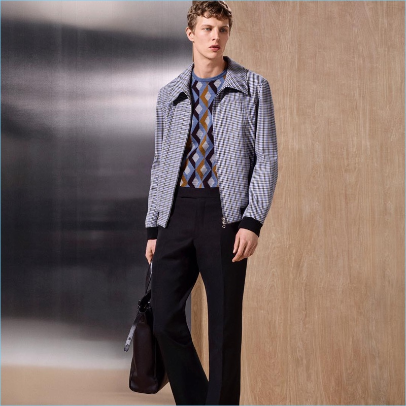 A smart vision, Tim Schuhmacher wears new arrivals from Dunhill.