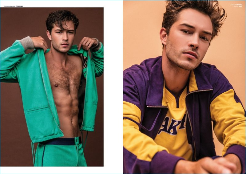 Francisco Lachowski Rocks Colorful Sporty Style for Victor Cover Shoot