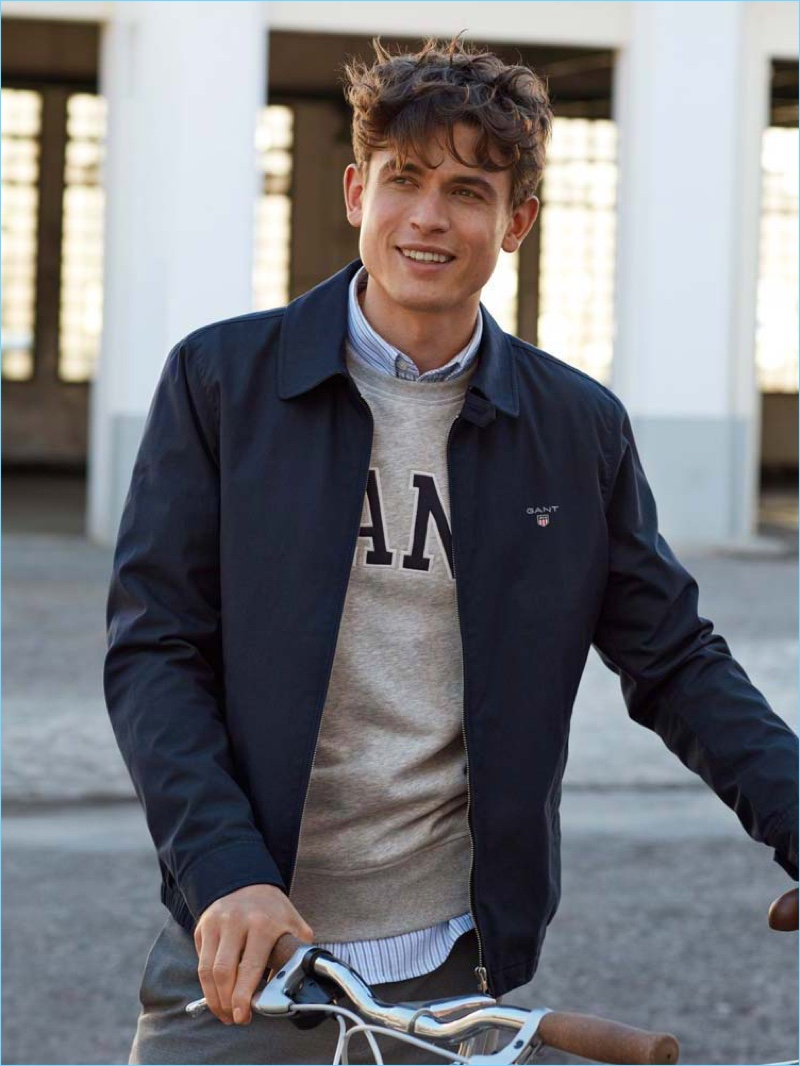 All smiles, Luc van Geffen connects with GANT for its spring-summer 2018 campaign.