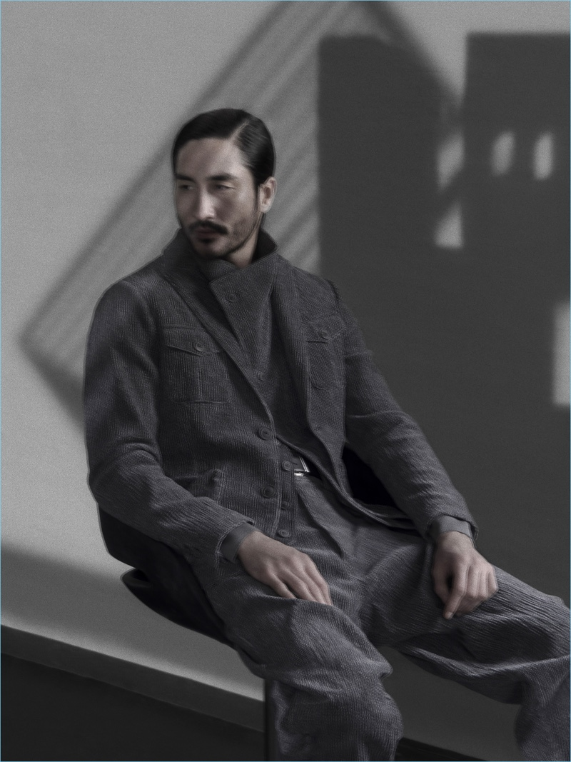 Tony Thornburg reunites with Giorgio Armani for its fall-winter 2018 campaign.