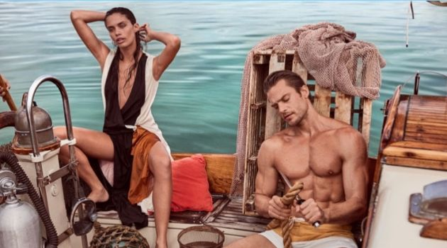 Jason Morgan joins Sara Sampaio for a story from Vogue México.