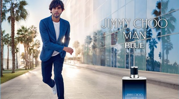 Marlon Teixeira Reunites with Jimmy Choo for Man Blue Fragrance Campaign