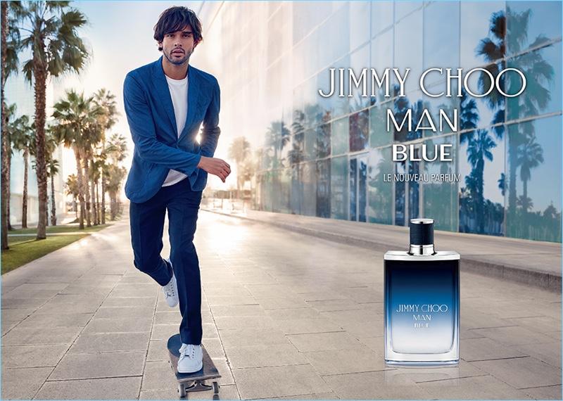3e59e7b5b4dc Marlon Teixeira stars in the Jimmy Choo Man Blue fragrance campaign.
