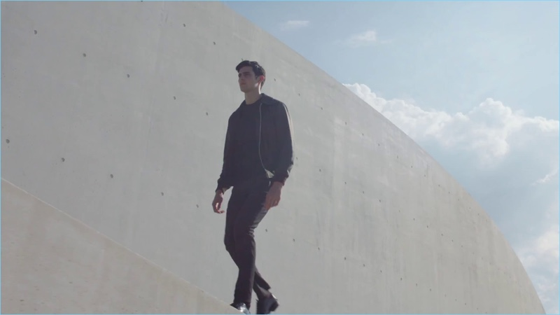 A still from Louis Vuitton's men's fragrance campaign film featuring model Rhys Pickering.