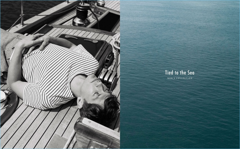 Mathias Lauridsen stars in a nautical-inspired outing for Massimo Dutti.
