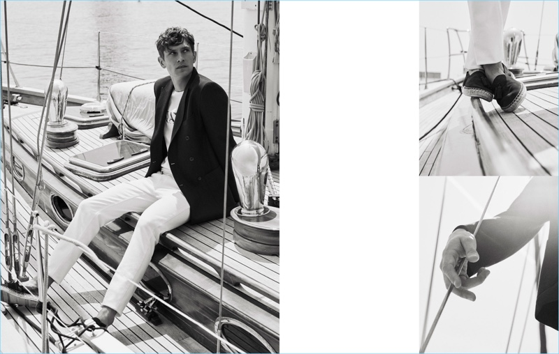 Massimo Dutti reunites with Mathias Laurisden for a nautical-inspired style edit.