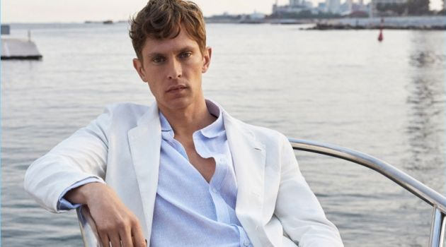 Tied to the Sea: Mathias Lauridsen Dons Nautical Style for Massimo Dutti