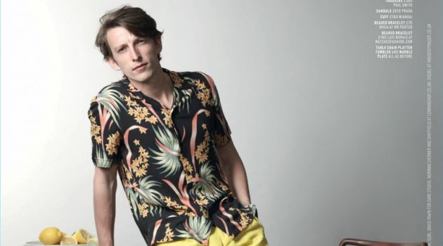 Max Townsend Dons Tropical Prints for Men's Health UK