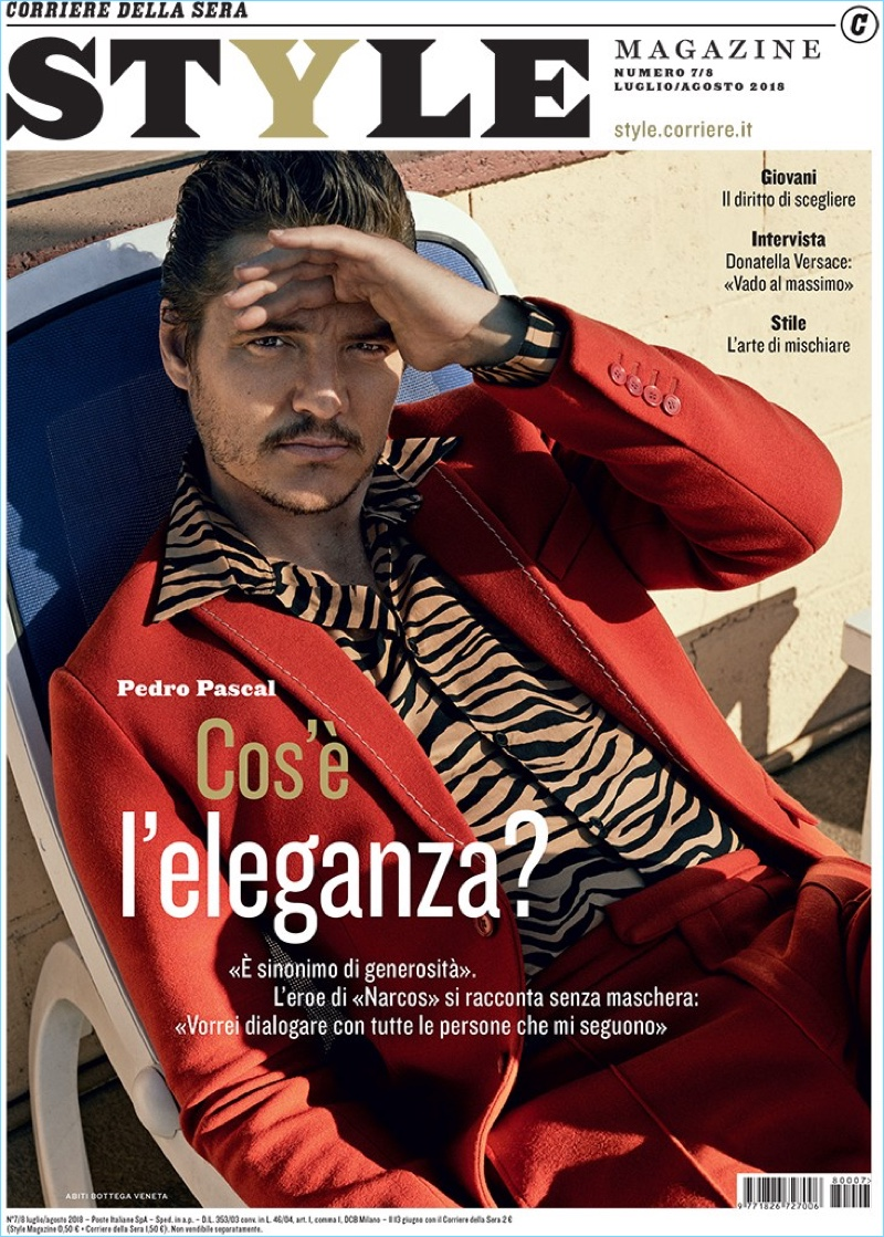 Pedro Pascal covers the July/August 2018 issue of Style Magazine Italia.