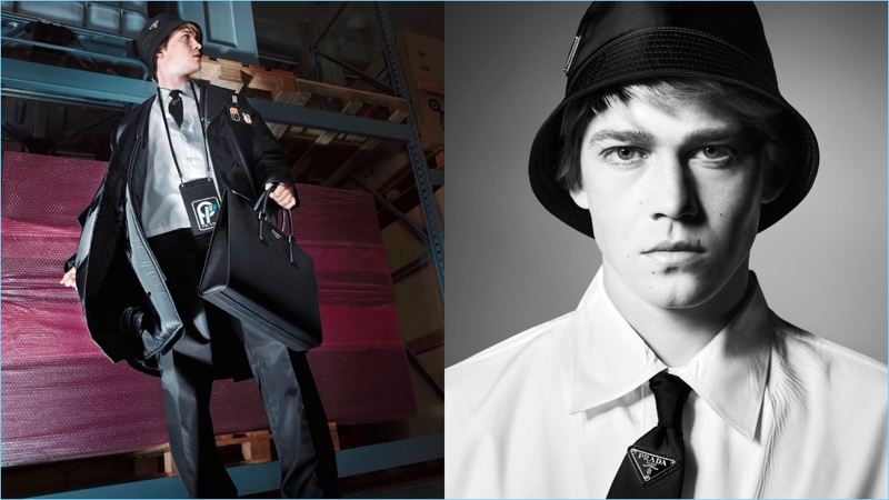 Joe Alwyn appears in Prada's fall-winter 2018 campaign.