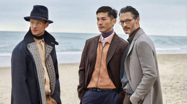 Ben Hill, Daisuke Ueda & Garrett Neff Don Fall Fashions for Robb Report