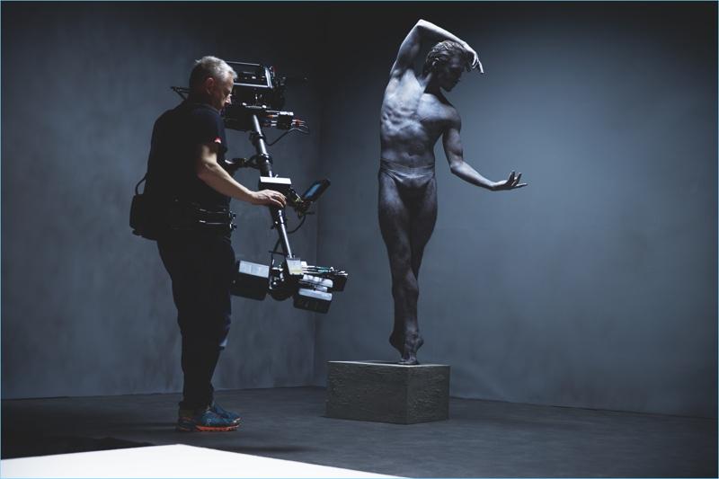 Neil Bennett (Rankin's Studio) photographs behind the scenes images of Sergei Polunin for Hunger TV.