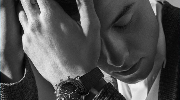 Shawn Mendes fronts Emporio Armani's fall-winter 2018 watches campaign.