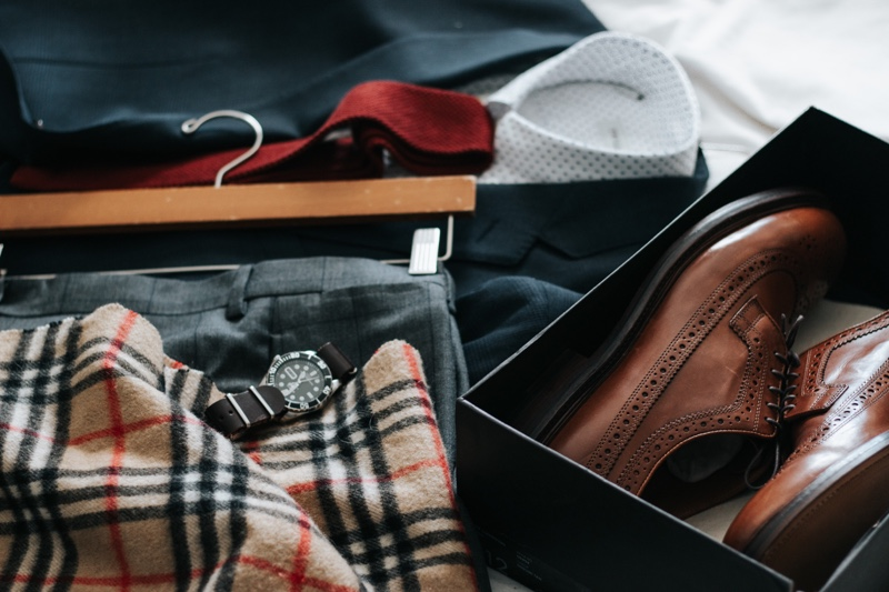 Menswear Suit on Bed