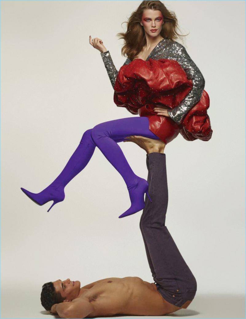 Trevor Signorino & Mathilde Brok Brandi Channel 90s Style for Vogue México