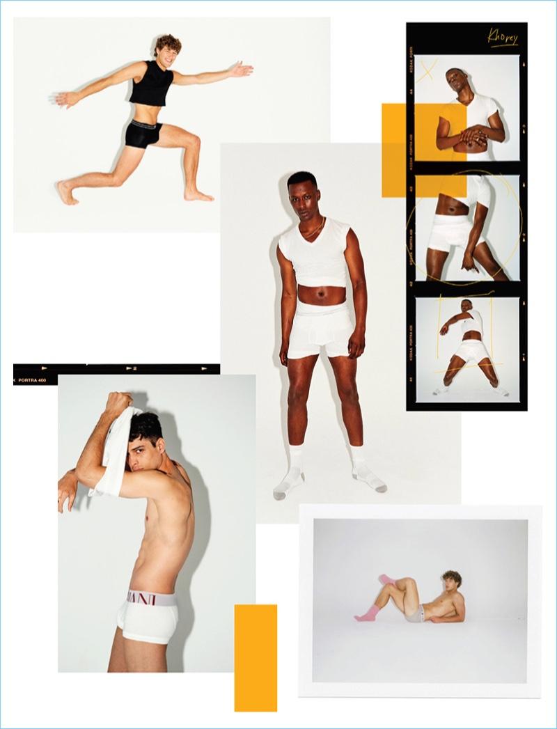 Conor Fay, Khorey Mcdonald & Jayro Castro Rock Underwear for WWD