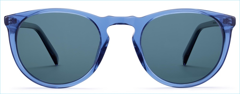 Warby Parker Haskell Sunglasses in Oxford Blue Crystal