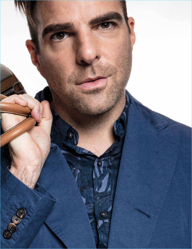 Ready for his close-up, Zachary Quinto wears Michael Kors.