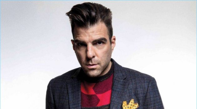 A smart vision, Zachary Quinto dons Perry Ellis.