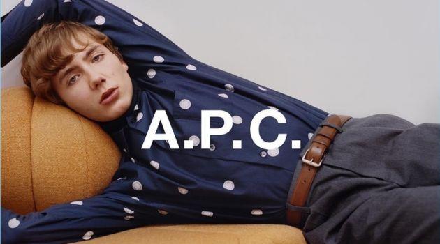 Paul Hameline fronts A.P.C.'s fall-winter 2018 campaign.