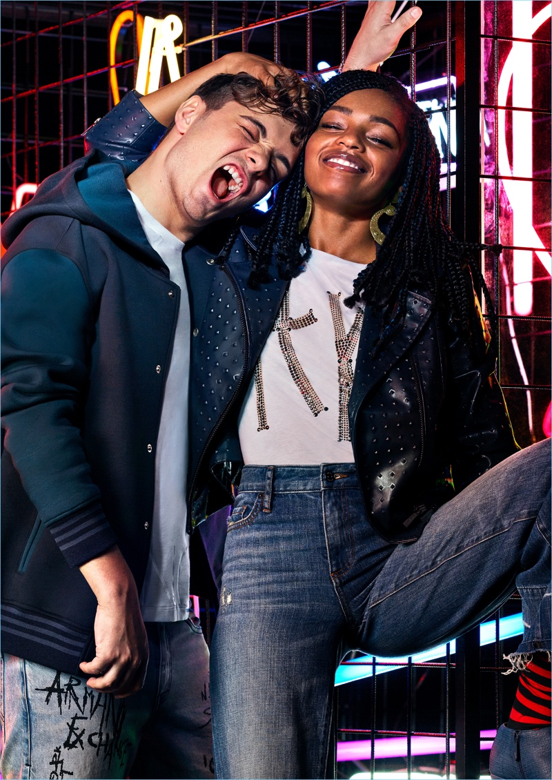 Armani Exchange enlists Martin Garrix and Selah Marley as the stars of its fall-winter 2018 campaign.