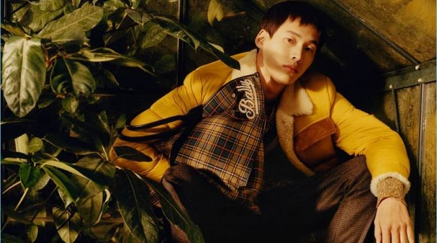 Wang Chen Ming stars in Bally's fall-winter 2018 campaign.