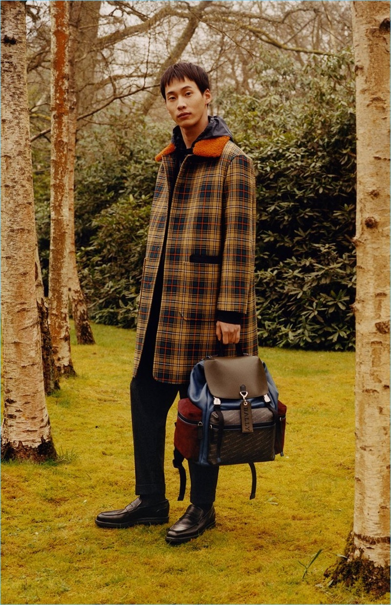 Bally enlists Wang Chen Ming as the star of its fall-winter 2018 campaign.