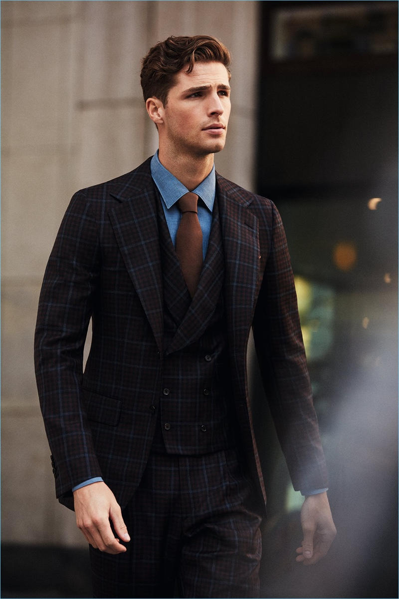 Edward Wilding impresses in a suit from Belvest.