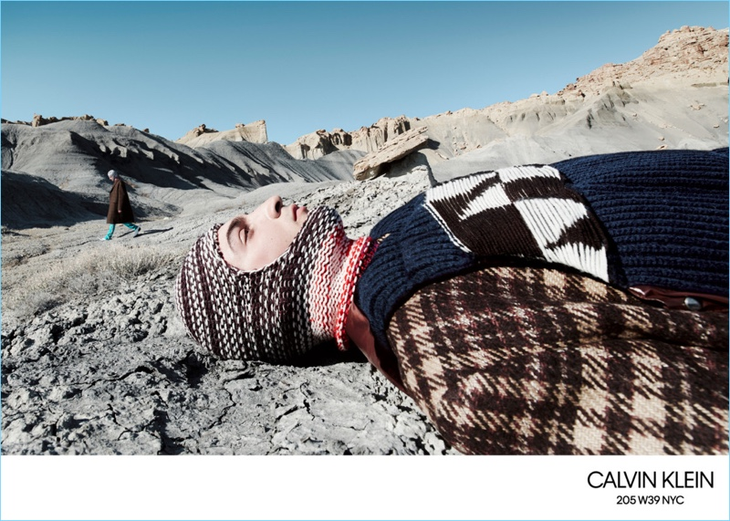 Luca Lemaire stars in Calvin Klein's fall-winter 2018 campaign.